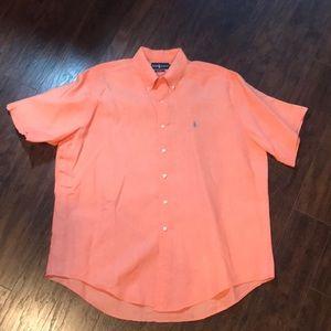 Polo Ralph Lauren linen s/s button down XL